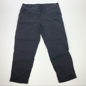 Eileen Fisher Linen Blend Capri Cropped Pants